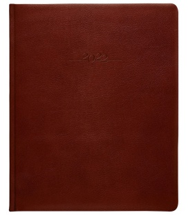 Leather diary Prezident weekly A4 Carus brown 2022