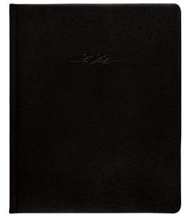 Leather diary Prezident weekly A4 Carus black 2022