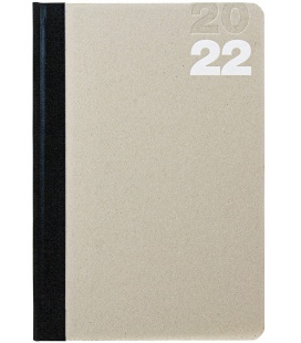 Daily Diary A5 Natura beige, black 2022