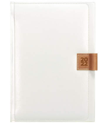 Daily Diary A5 Nody white, brown 2022