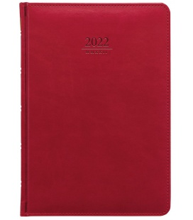 Daily Diary A5 Gemma red 2022