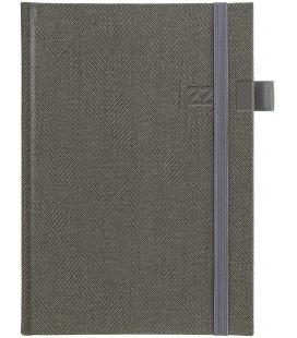 Weekly Diary A5 Tweed grey, grey 2022