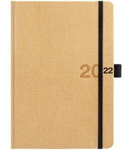 Weekly Diary A5 poznámkový Canvas beige, black 2022
