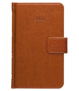 Weekly Pocket Diary Kastor s poutkem brown 2022