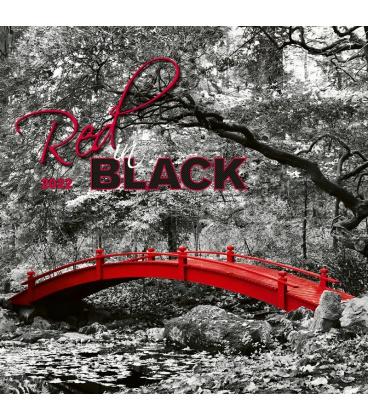 Wall calendar Red in Black 2022