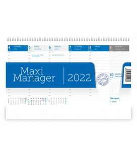Table calendar Maximanager modrý 2022