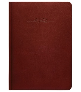 Leather diary A5 daily slovak Carus brown 2022