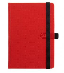Daily Diary A5 slovak Trendy red, black 2022