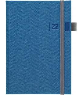 Daily Diary A5 slovak Tweed blue, grey 2022