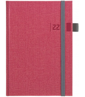 Daily Diary A5 slovak Tweed red, grey 2022
