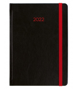 Daily Diary A5 slovak Neon black, red 2022