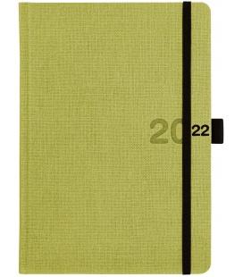 Daily Diary A5 slovak Canvas green, black 2022