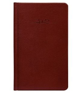 Leather diary weekly pocket slovak Carus brown 2022
