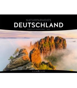Wall calendar Naturparadies Deutschland - Signature Kalender 2022