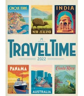 Wall calendar Travel Time Kalender - Reise-Plakate 2022