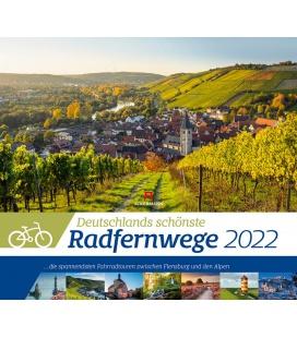 Wall calendar Deutschlands schönste Radfernwege Kalender 2022