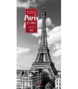 Wall calendar Paris, je t'aime - Literatur-Kalender 2022