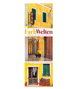 Wall calendar FarbWelten - Weltreise Triplet-Kalender 2022