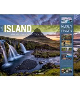 Wall calendar Island Kalender 2022