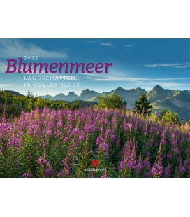 Wall calendar Blumenmeer - Landschaften in voller Blüte, Kalender 2022