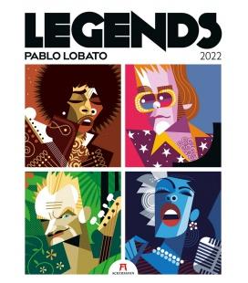 Wall calendar Legends - Pablo Lobato, Musiklegenden Kalender 2022