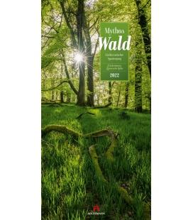 Wall calendar Mythos Wald - Literatur-Kalender 2022