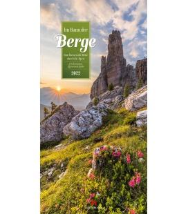 Wall calendar Im Bann der Berge - Literatur-Kalender 2022