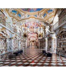 Wall calendar Welt der Bücher - Bibliotheken Kalender 2022
