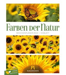 Wall calendar Farben der Natur - Wochenplaner Kalender 2022