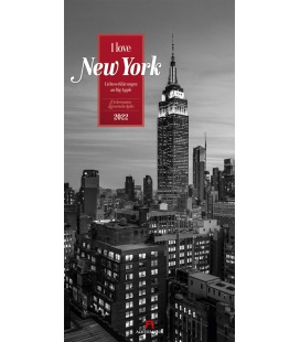 Wall calendar I love New York - Literatur-Kalender 2022