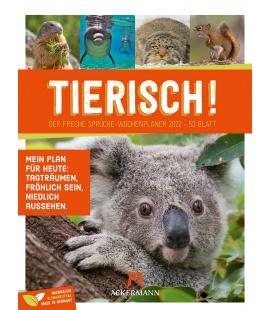 Wall calendar Tierisch! Sprüchekalender - Wochenplaner Kalender 2022
