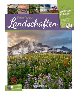 Wall calendar Poetische Landschaften - Wochenplaner Kalender 2022