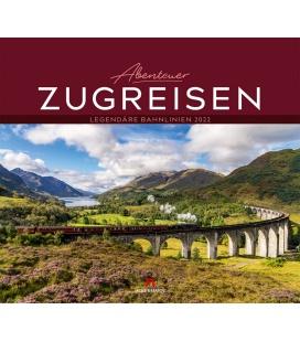 Wall calendar Abenteuer Zugreisen Kalender 2022