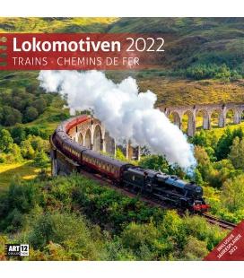Wall calendar Lokomotiven Kalender 2022