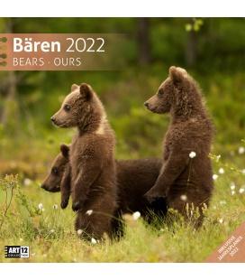 Wall calendar Bären Kalender 2022