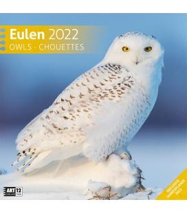 Wall calendar Eulen Kalender 2022
