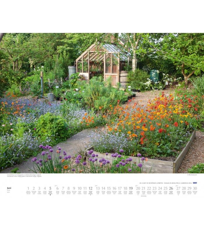 Calendar Zu : Wall calendar zu gast in schönen gärten